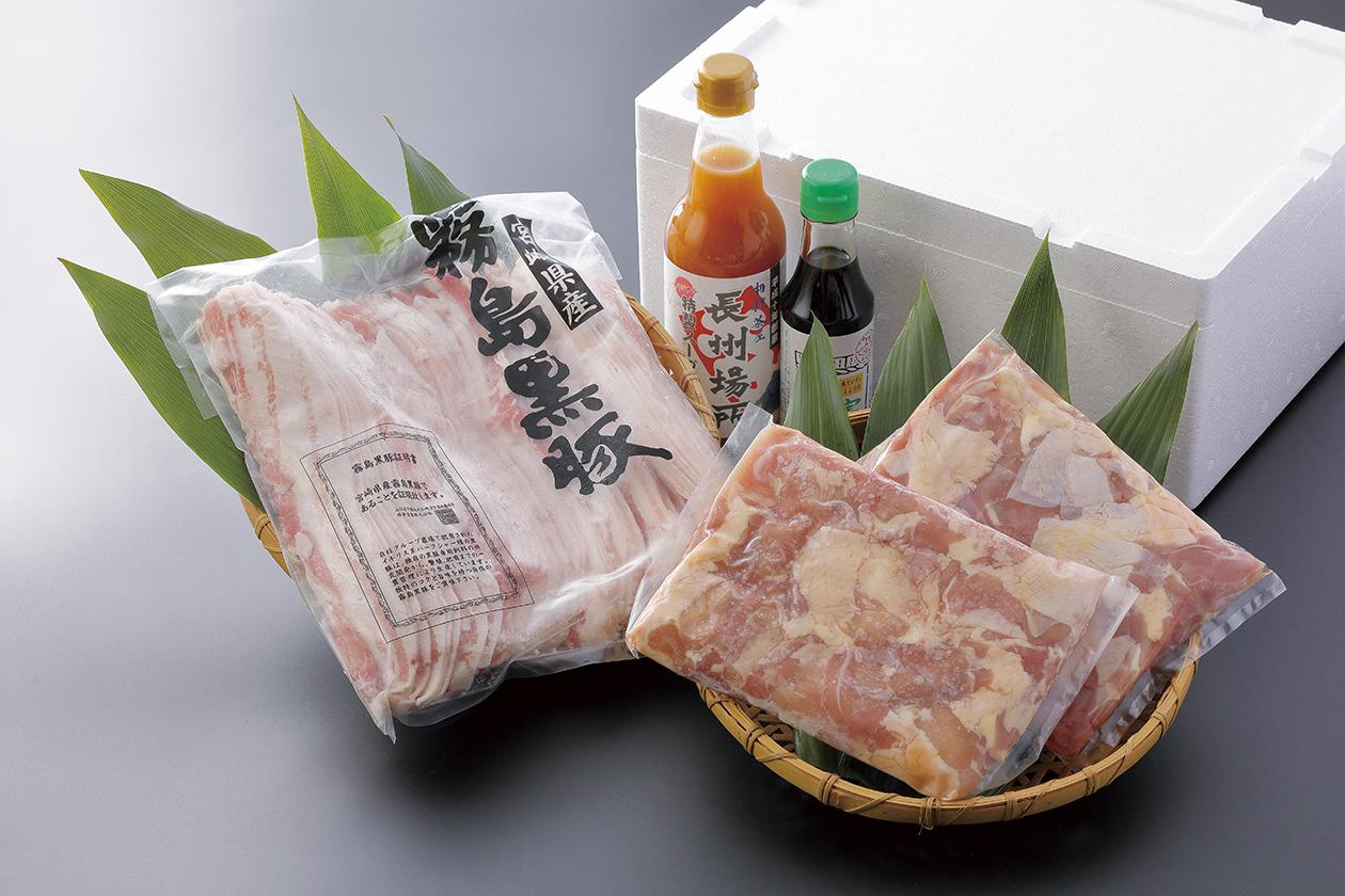 長州鶏 黒豚肩ロース あんこう鍋セット